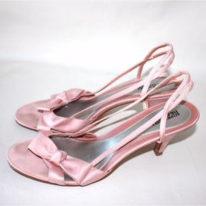 Kenneth Cole Reaction Shoes - Kenneth Cole Reaction Pink Satin Bow Evening Heels
